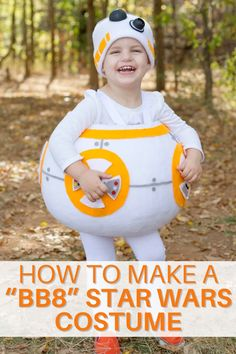 Make a BB8 Star Wars Costume with our tutorial. If you're a fan of Star Wars, you'll love making this easy DIY Halloween costume. #starwarscostume #DIYHalloweenCostume Homemade Halloween Costumes, Diy Costumes, Halloween Diy, Easy Sewing Projects, Sewing Tutorials, Sewing Patterns, Star Wars Costumes, Bb8, Diy Clothing