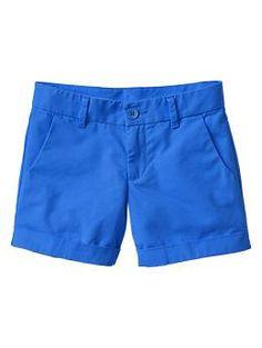 "Cuffed shorts. color ""blue streak."" size 6.  Love gap shorts!"