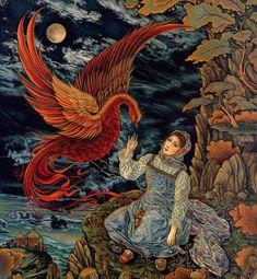 Laurel Long, illustration for The Magic Nesting Doll by J. Ogburn, Dial Books Ed, edition 2000 Children's Book Illustration, Illustrations, Russian Folk Art, Fairytale Art, Wow Art, Art Graphique, Tarot, Fantasy Art, Fairy Tales