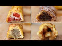 French Toast Roll-Ups 4 Ways - YouTube