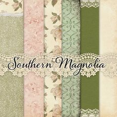 Shabby Chic Magnolias Paper Pack by popstock on @creativemarket
