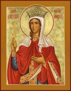 Katherine (Catherine) of Alexandria by Paul Drozdowski Byzantine Icons, Byzantine Art, Religious Icons, Religious Art, St Catherine Of Alexandria, Saint Katherine, Maria Goretti, Lives Of The Saints, Symbolic Art