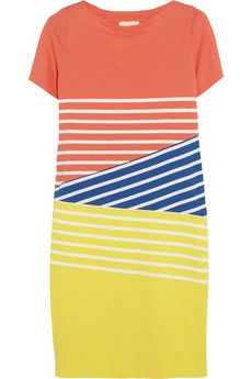 Band of Outsiders Striped cotton mini dress | THE OUTNET