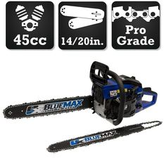 Blue Max 2-In-1 20 in. and 14 in. 45cc Gas Chainsaw Combo