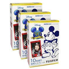 Amazon.com : Fujifilm Instax Mini 90th Mickey 30 Film for Fuji 7s 8 25 50s 90 300 Instant Camera, Share SP-1 : Camera & Photo