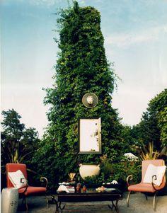 mirror in the garden via william cullum