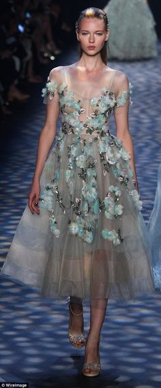An ode to Mother Nature: The collection was inspired by 'beauty from sunrise to twilight'...