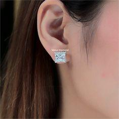 Princess Diamond Earrings 5.02+5.06 carrat H color VVS1 Princess Cut Diamond Earrings, Princess Cut Diamonds, Diamond Cuts, Detail, Color, Jewelry, Jewlery, Jewerly, Colour