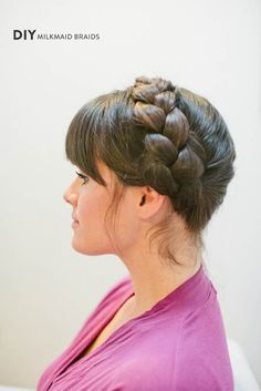 DIY Milkmaid Braids from Your Cloud Parade + Nicole Deanne  Read more - http://www.stylemepretty.com/2013/09/13/diy-updos-from-your-cloud-parade-nicole-deanne/