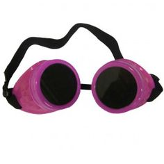 Lunettes Goggles Cyber Gothique Goth Rose
