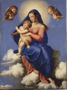 Salvi Giovanni Battista , Madonna con Bambino in gloria - insieme