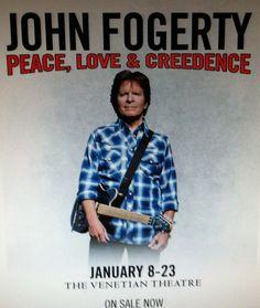 JOHN FOGERTY... PEACE, LOVE AND CREEDENCE (2016...1ST STOP IN VEGAS) @ VENETIAN