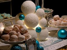 Like the use of Christmas ornaments, which will be readily available right before the big day. Cheap way to decorate!
