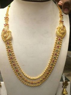 Gold balls long necklace