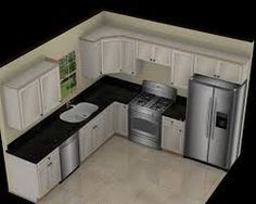 Image result for 10 by 10 kitchen layout with island