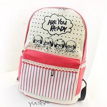 480e75ee1510e Stacy çanta sıcak satış kadınlar baskı sırt çantası gençlik kız karikatür  şerit baskı tuval seyahat sırt