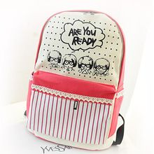 Stacy çanta sıcak satış kadınlar baskı sırt çantası gençlik kız karikatür şerit baskı tuval seyahat sırt çantası bayanlar seyahat çantası okul çantası(China (Mainland))