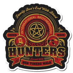 International Brotherhood of Hunters Sticker by saraholledesign