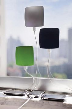 http://www.amazon.com/gp/product/B007PQRHU8/?tag=like-20    Window cling solar charger! When the price comes down, I am getting one.