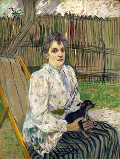"alongtimealone: "" Henri de Toulouse-Lautrec - Lady with a Dog, 1891 at National Art Gallery Washington DC "" Henri De Toulouse-lautrec, National Art, National Gallery Of Art, Art Gallery, Art Nouveau, Renoir, Monet, Tolouse Lautrec, Giovanni Boldini"
