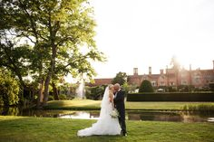 Bride and groom portraits during the 'golden hour' of a Summer wedding at Great Fosters.  ____________  #greatfosters #GreatFostersweddings #GreatFostersweedingphotos #bridalprep #Surrey #wedding #photographers #brideandgroom #portraits #goldenhour #weddings #summer #mote #historicvenues #beautifulweddingphotography