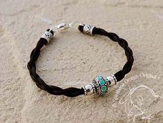 Love this!  DONAS - Horse Hair Bracelet - Sterling Silver - Turquoise - Horseshoe - Heart - Cross. $57.00, via Etsy.