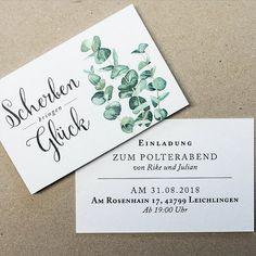 Greenery Hochzeitspapeterie mit aquarelliertem Eukalyptus von Fanfare Paper Goods.