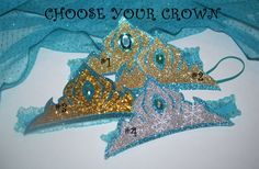 ELSA inspired CRoWN,  Elsa's CORONATiON Crown, Elsa Birthday Party Favors, Elsa Party Crown, Queen Elsa Tiara, Elsa Gold Crown by JennasGarden on Etsy https://www.etsy.com/listing/186746670/elsa-inspired-crown-elsas-coronation