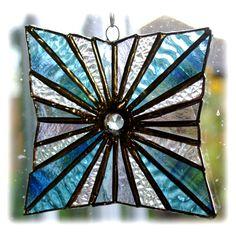 Star Burst Suncatcher Stained Glass Handmade £18.50
