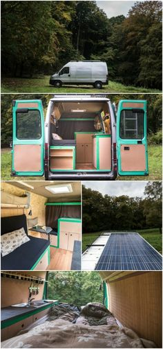 Traveling Photographer Converts Cargo Van into Tiny House - Norbert Juhász and his fiancé Dora recently chose to desert their normal life in downtown Budapest and travel the world to purse Norbert's photography profession and passion. In order to have the freedom to do this, they decided to buy an old and unassuming cargo van and convert it into a fully functioning tiny house on wheels. While the home is definitely compact, it surprisingly has everything needed for the couple to live…