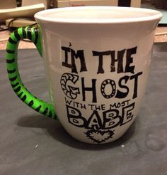 Beetlejuice Mug by CraftGirlStudios on Etsy, $12.00