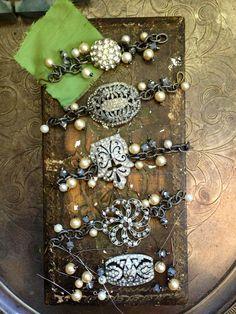 #bridal party #bracelets from Honey Pieces Jewelry  Facebook.com/honeypiecesjewelry