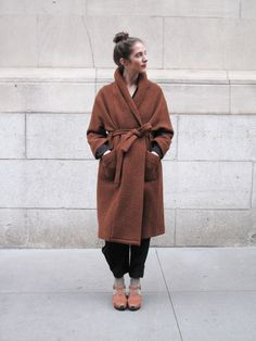 Franzius Brown Coat This kind of looks like a bathrobe (okay it looks exactly like a bathrobe), and i'm not sure that I care