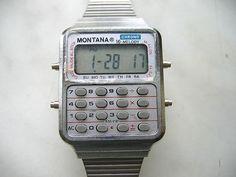 Zegarek z kalkulatorem.