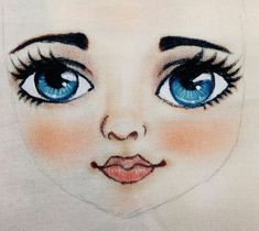 Doll Face Paint, Doll Painting, Fabric Painting, Doll Crafts, Diy Doll, Doll Clothes Patterns, Doll Patterns, Pencil Drawings Of Flowers, Handmade Angels