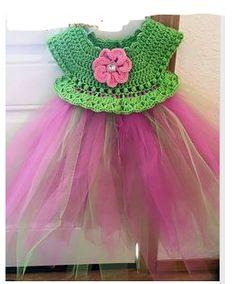 Empire Waist Crochet Tutu Dress pattern by Patricia Klonoski Crochet Fairy, Crochet Girls, Crochet Baby Clothes, Crochet For Kids, Crochet Tree, Crochet Toddler, Crochet Jacket, Knit Crochet, Crotchet