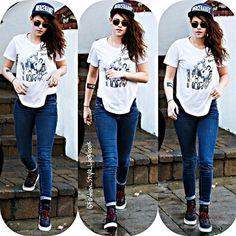 #kristenstewart #robertpattinson #vampire #skinnyjeans #cap #hat #tshirt #twilight #cool #fashion #style #accessories #love #beautiful #makeup #royals #converse #keds #jeans #forever21 #vogue #chanel #fashion #style #taylorlautner #selfie #nomakeup #croptop... - Celebrity Fashion