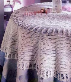 Crochet World, Crochet Home, Diy Crochet, Magia Do Crochet, Crochet Patterns Filet, Crochet Tablecloth, Doilies, Blanket, Knitting