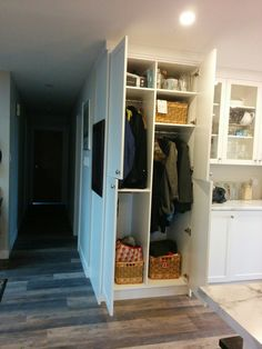 The Coat Closet At The End Of The Run Of Cupboards, Is Now In Front