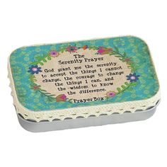 Serenity Prayer Prayer Box By Natural Life