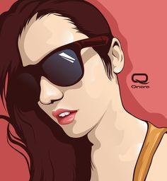 Tutorial Vector Portrait Adobe Illustrator cs6, coreldraw, adobe photosh...