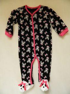 Skull Baby Girl Sleeper (Ebay)
