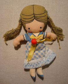 Vintage Joan Walsh Anglund Cloth Pocket Doll Wolfpit 1975 Little Girl #Dolls