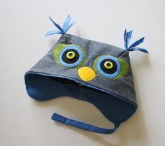 Little Grey Owl Hat van littlegoodall op Etsy, $45.00