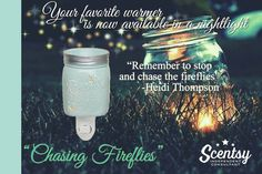 Scentsy's Chasing Fireflies: our bestselling warmer is not available in a nightlight! #scentsbykris