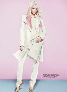 Pastels, Elle Vietnam, April 2012. Wearing Chloe, Louis Vuitton, 3.1 Phillip Lim, Prada...