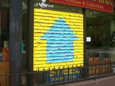 Post-it Notes for Neighbors is an interactive installation that helps demystify the topic by inviting people to anonymously share information about their housing costs.By the end of the week, the window was transformed into a useful collection of housing information created by and relevant to the community.