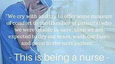 When becoming a nurse you will cry sometimes when your patients are dying but we. Do try are best to save there lives everyday that's called being a hero with a big heart Nurse Love, Rn Nurse, Nurse Stuff, College Nursing, Nursing Notes, Funny Nursing, Medical Humor, Nurse Humor, Rn Humor