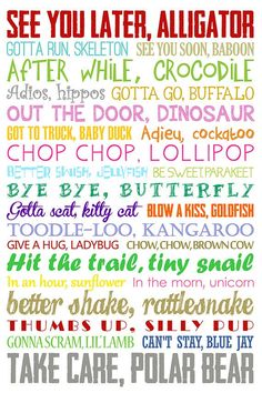 See You Later Alligator. After While Crocodile. Children's - Top Trends After While Crocodile, See You Later Alligator, Teacher Signs, Quotes About Motherhood, Classroom Decor, Classroom Quotes, Future Classroom, Classroom Management, Activities For Kids