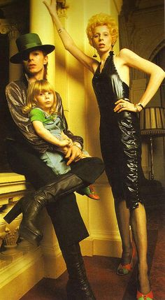 "David Bowie and his ex-wife Angie with their son ""Zowie"" Bowie (now Duncan Jones) 70s."